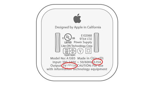 تشخیص شارژر اصلی ایفون از روی ولتاژ و شدت جریان آداپتور
