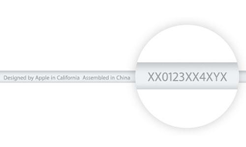 تشخیص کابل اصلی ایفون با شماره سریال
