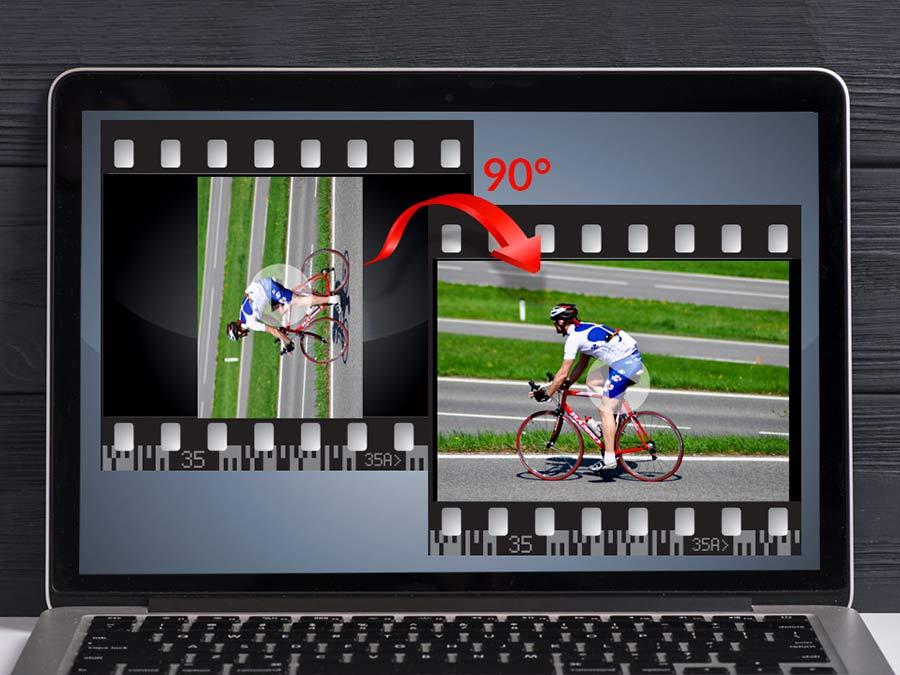 نحوه چرخاندن فیلم در کامپیوتر