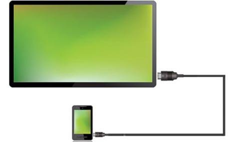 نحوه اتصال گوشی به تلویزیون با کابل شارژر