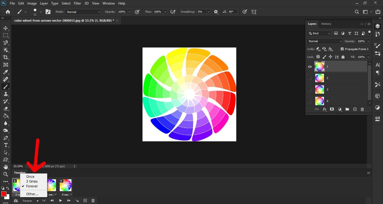 آموزش ساخت تصویر متحرک با فتوشاپ
