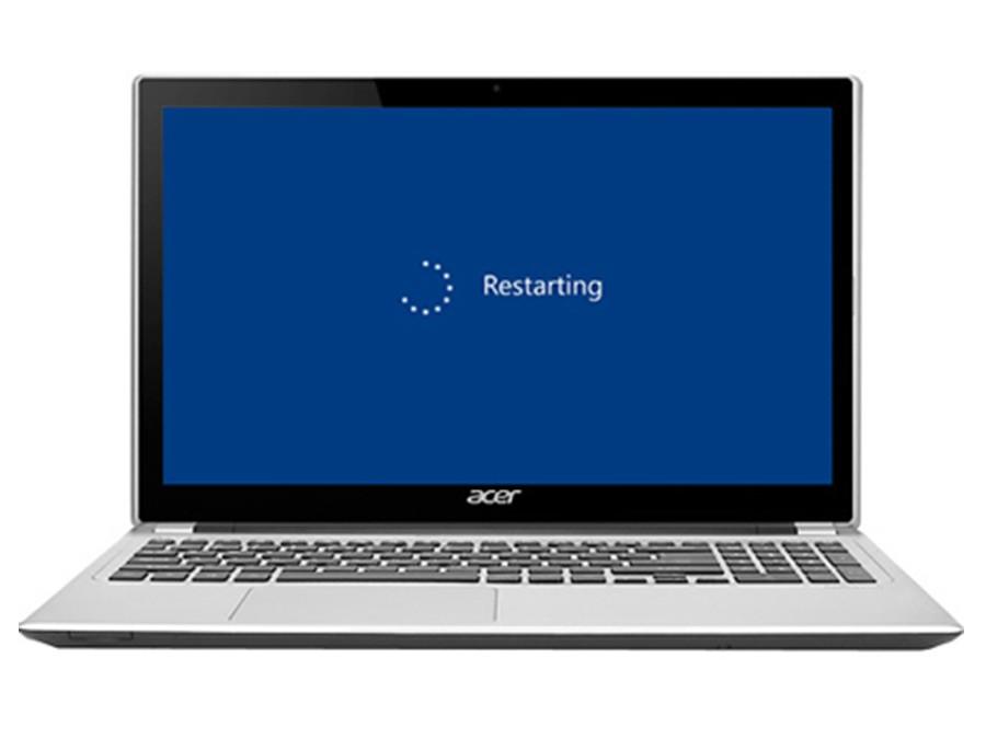ریستارت لپ تاپ با کیبورد