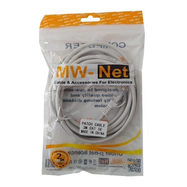 کابل شبکه Cat5 UTP ام دبلیونت مدل 097 طول 3 متر
