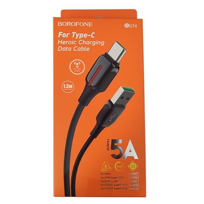 کابل USB به Type-c بروفون مدل BU14 طول 1.2 متر