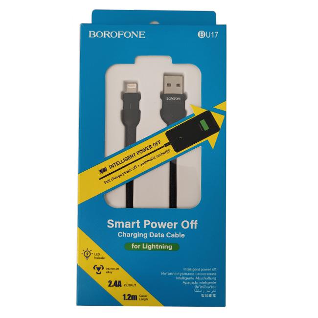کابل USB به Lightning بروفون BU17 طول 1.2 متر