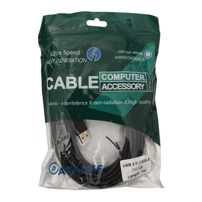 کابل افزایش طول USB دیتالایف مدل 085 طول 5 متر