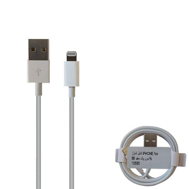 کابل USB به لایتنینگ مدل fox-86%-10593 طول 1متر