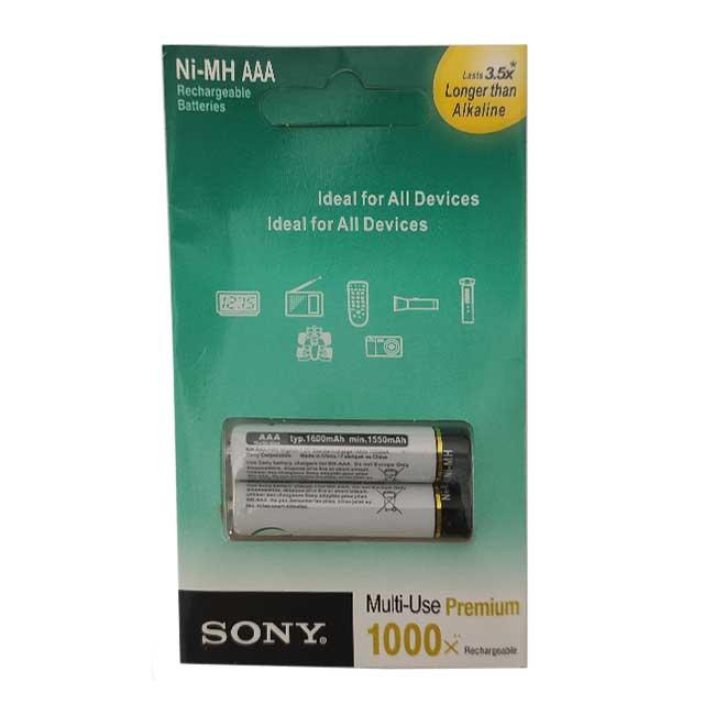 باتری نیم قلمی قابل شارژ سونی مدل 015 ظرفیت 1600MAH