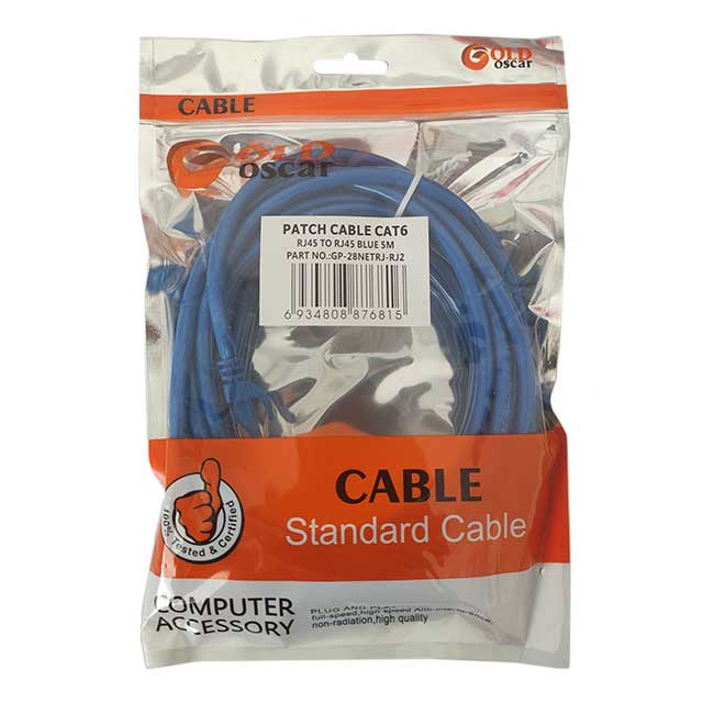 کابل شبکه Cat6 UTP اسکار مدل 258 طول 5 متر