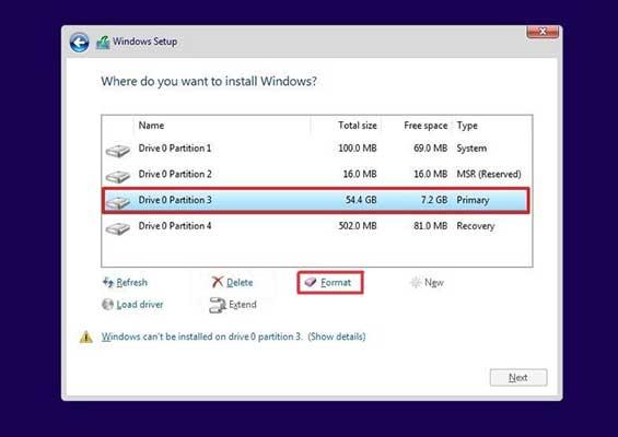 نحوه نصب ویندوز 10 با فلش روی لپ تاپ